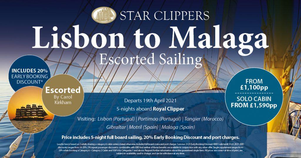 escorted sailing banner details